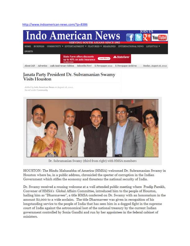IndoAmerican News_Dr. Swamy & HMSA_Houston_07.25.2012_001
