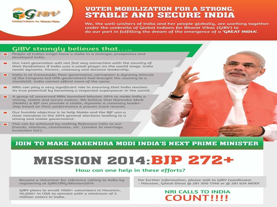 NRIs from USA battle for strong India through Loksabha elections