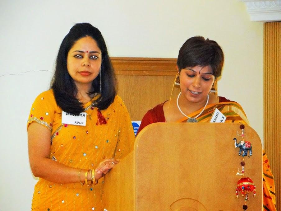 KPCS Executive Members Anupama Handoo and Lakshmi Kaul introducing the programme of the day