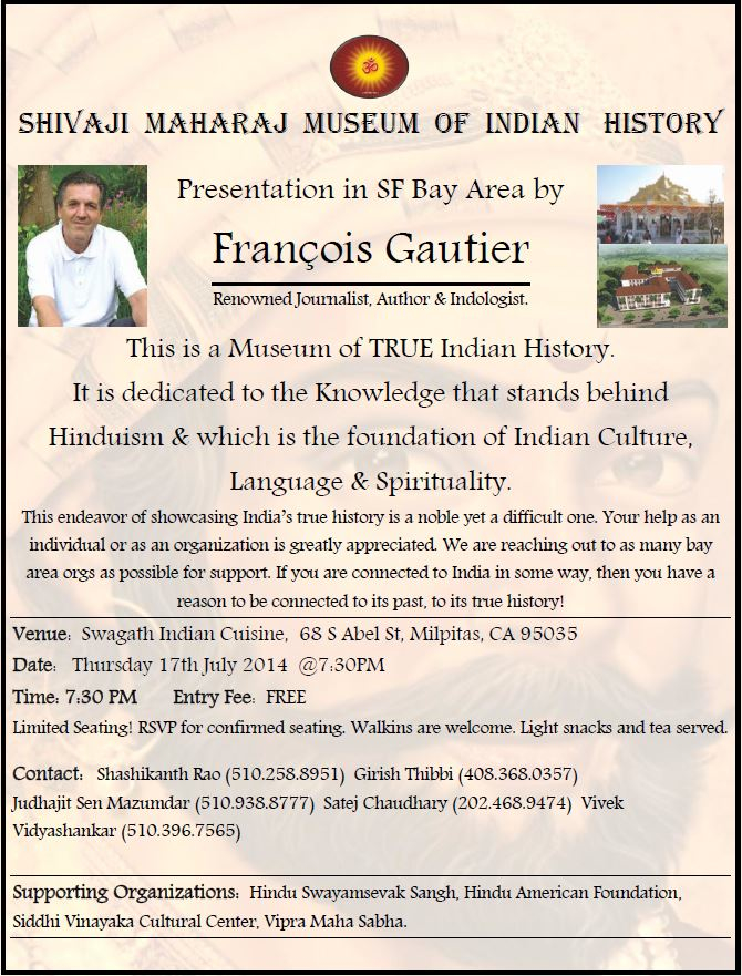 Bay Area Event - Shivaji Maharaj Museum of Indian History