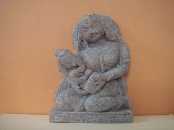 Baby Ganesh with Parvati