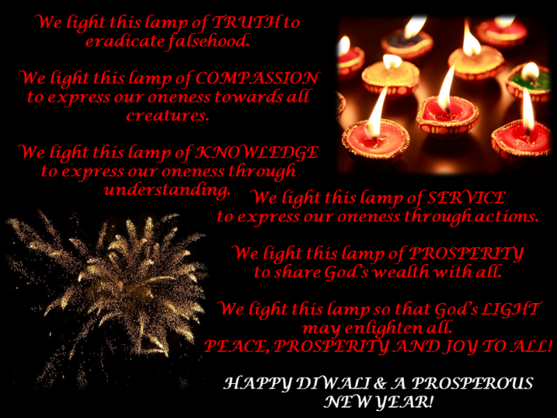 Diwali greetings from hindu university of america world hindu news a prosperous new year m4hsunfo