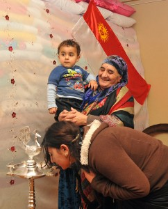 Yezidis worship sanjak or peacock lamp in Armenia
