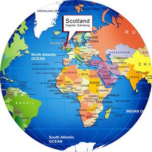 Scotland On The World Map Ireland Map